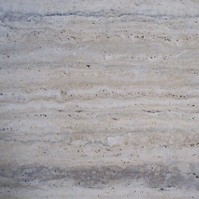 Roman Travertine, Vein Cut, Unfilled, Honed, Close 1