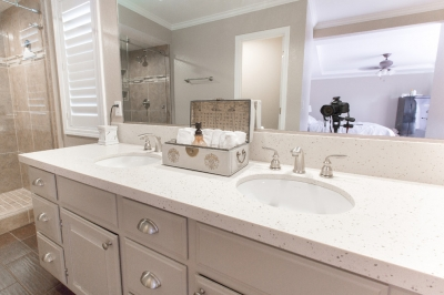 Almond Rocha™ Quartz Bathroom Vanity