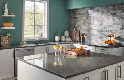 Babylon Gray™ Quartz Kitchen