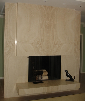Navona Travertine Fireplace
