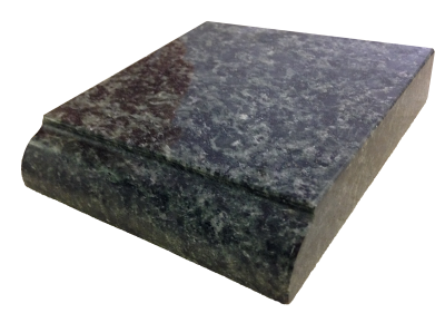 A dupont edge on verde lavras granite.