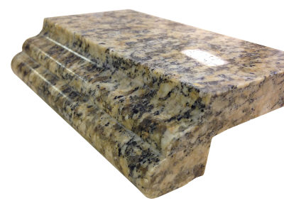 A laminated edge with an ogee and bullnose on juparana gaivota (old version) granite.