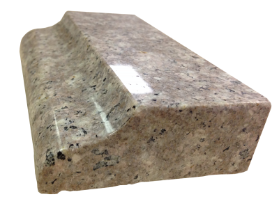 An ogee edge on mystic mauve granite.