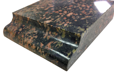 An ogee edge on granite.