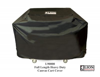 Lion L90000 Premium BBQ Grill and Cart with Full Length Cover