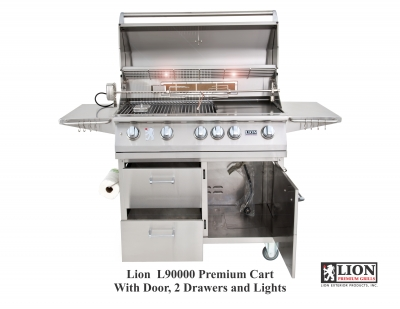 Lion L90000 Premium BBQ Grill and Cart