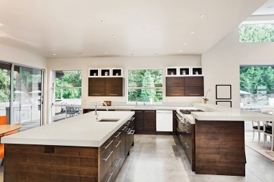Cashmere Oro™ Quartz Kitchen