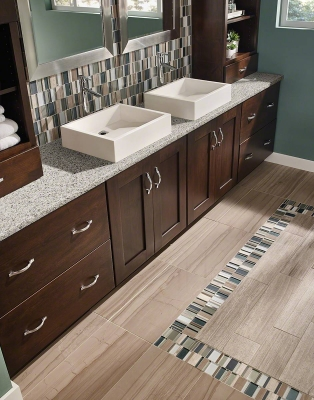 Peppercorn White™ Quartz Bathroom Vanity
